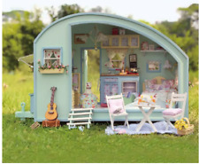 Cuteroom DIY Wooden Dollhouse Miniature Kit Doll house LED+Music+Voice Con