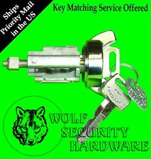 Ford Lincoln Mercury Ignition Key Switch Lock Cylinder Tumbler Chrome 2 Keys