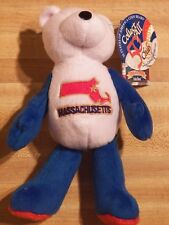 State Massachusetts Quarter Beanie Bear 3rd State Collectible Stuffed New Coin