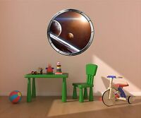 "24"" Porthole Space Ship Window SUN & PLANET #1 SILVER Wall Decal Sticker Graphic"