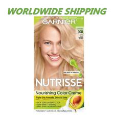Garnier Nourishing Color Hair Dye 100 Extra Light Natural Blonde WORLD SHIPPING