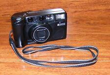 Vintage Ricoh Shotmaster Zoom f+35-70mm Black Film Camera With Neck Strap