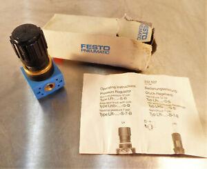 Festo Pneumatic Regulator LR-1/8-S-B-NPT New