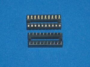 Ic-Socket / Ic Sockets, 20-polig (Narrow), Doppelfederkontakt, Amount as Desired