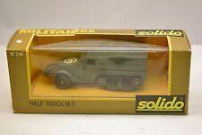 Solido 244 Half Track M3, véhicule militaire neuf avec boite (# A4b)