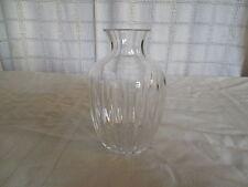 "Lovely crystal 6"" ribbed vase"