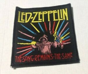 Led Zeppelin Song Remains The Same vintage 1980s SEW-ON PATCH