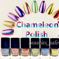 6Pcs/Set BORN PRETTY Chameleon Nail Polish Varnish 6ml (Black Base Color Needed)