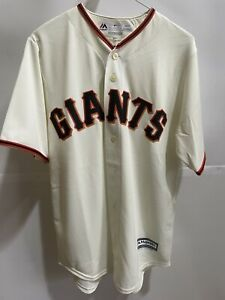 San Francisco Giants Majestic Official Cool Base Jersey - Tan Small