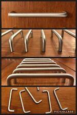 6 Handles Pulls Bar Satin Silver Cabinet Cupboard Drawer U Shape Arch Vintage
