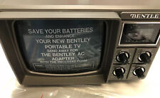 "Vintage Bentley Model 100C Portable Television 5"" Screen NEVER USED-IN BOX"