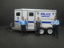 Greenlight Nypd Mounted Unit - Horse Trailer + 3 Nypd cops
