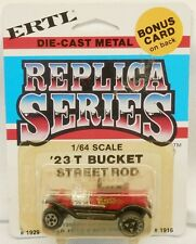 Ertl Replica Series 1923 Ford Model T Bucket Street Rod Red MOC 1/64 Scale