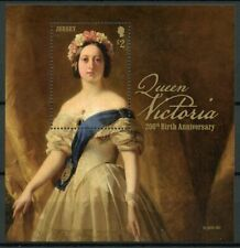 Jersey 2019 MNH Queen Victoria 200th Birthday 1v M/S Art Royalty Stamps
