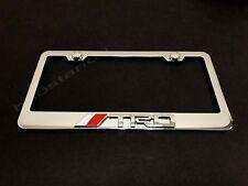 1x //TRD3D Emblem STAINLESS STEEL License Plate Frame RUST FREE + Screw Cap