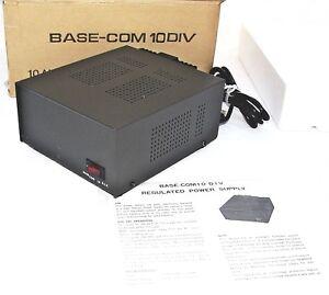 NEWMAR Base Com 10 AMP Regulated Power Supply 115V/230V Output 13.4 VDC ~ NIB