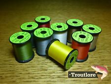 9 x SPOOLS 8/0 UNI THREAD MIXED COLOURS NEW FLY TYING SUPPLIES & MATERIALS