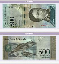 BILLETES DE VENEZUELA 500 Bs. BOLÍVARES FUERTES FUERA DE CIRCULACIÓN RARO