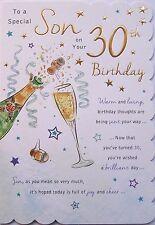 Splendido design moderno a un figlio speciale sul tuo 30th Compleanno Biglietti d'auguri