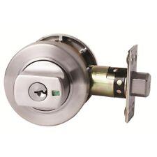Lockwood 005/B1LSCDP Paradigm Double Cylinder Deadbolt Round Brushed SC