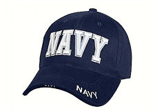 Navy Embroidered Ball Cap Low Profile Hat USN DDG CG LHA CVN LHD SEAL USA White