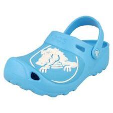Scarpe zoccolate blu per bambine dai 2 ai 16 anni gomma