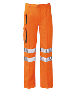 Hi Vis Hi Visibility Rail Spec Combat Trouser - Hi Viz Orange - PCRTCR