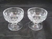 Elegant Vintage Fostoria American Crystal Clear 2 LOW SHERBERT BERRY DESSERT CUP