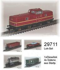 Aus Märklin 29711 Zugset mit Diesellok BR V 80 + 4 Güterwagen der DB #NEU