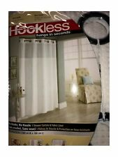 """Hookless Shower Curtain 71"""" x 74"""" in White Waffle"""