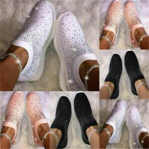Laufschuhe Damen Freizeitschuhe Flache Socken Schuhe Turnschuhe Sportschuhe