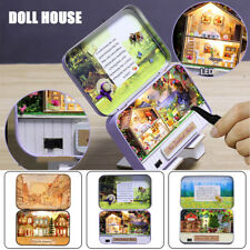 Wooden DIY Dollhouse Miniature 3D Doll House Kit Box Theatre Gifts W/ LED Light