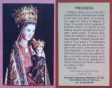 Santino Holy Card: N.S. Regina di Crea - Santuario Madonna di Crea - Serralunga