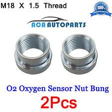 Weld O2 M18 x 1.5 THREAD Oxygen Sensor Stepped Nut Bung mild Steel Nut 2Pcs