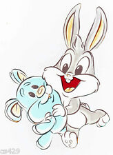 """6.5"""" Baby looney tunes babies bugs bunny prepasted wall border cut out character"""