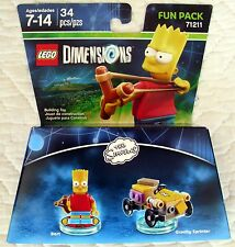 LEGO DIMENSIONS FUN PACK 71211 - SIMPSONS - BART & GRAVITY SPRINTER - ONLY ONES!