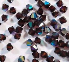 40 Garnet AB Böhmische Glasperlen 4mm Tschechische Kristall Perlen BEST X64