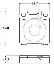 Disc Brake Pad Set-RWD Rear Stoptech 308.06030