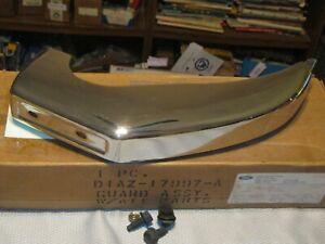 NOS 1971 Ford LTD,Galaxie,Custom left Front Bumper Guard