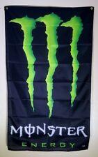 Monster Banner Energy Drink Advertising Flag Racing Garage 3x5 Promotion NASCAR