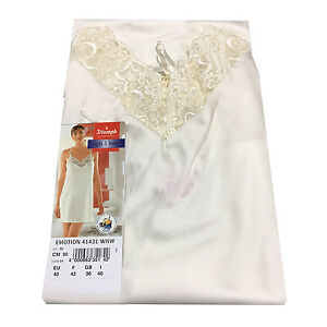 TRIUMPH Petticoat Woman White with Lace Matched Lillyets 50%Cotton 50%Modal