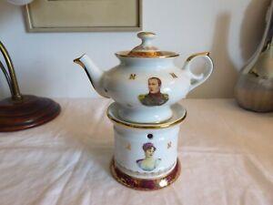 Tisanière Veilleuse en porcelaine de luxe France Napoléon et Joséphine