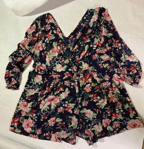 Toxik Floral shorts Romper 2X plus size