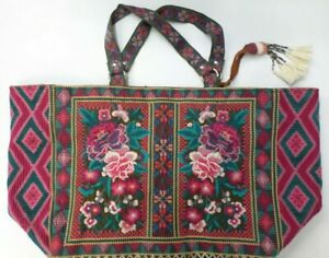NWT Johnny Was Annaliese Embroidered Tote Bag - OL37780321