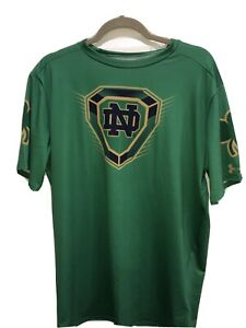 NWT Under Armour Heatgear Notre Dame Football Compression Tee Size 3XL
