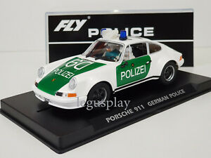 "Slot Car Scalextric Fly A2016 Porsche 911 German Police Car "" Polizei """