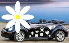 32  White & Yellow Daisy Car Decal,Stickers,Graphic,VW Beetle Car,Flower Sticker