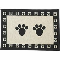 One Dog Feeding Mat Pet Bowl Placemat Dish Pad Food Puppy Waterproof Clean Rug