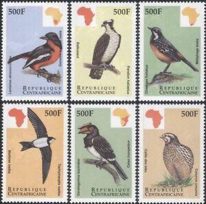 Central African Republic 1999 Osprey/Quail/Shrike/Birds/Nature 6v set (b387b)