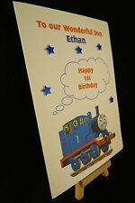 Personalised & HandMade Thomas The Tank Engine Birthday Card Son,Grandson